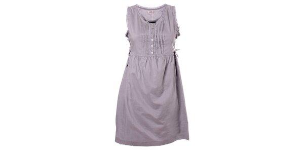 Dámské světle šedé bavlněné šaty Bleifrei