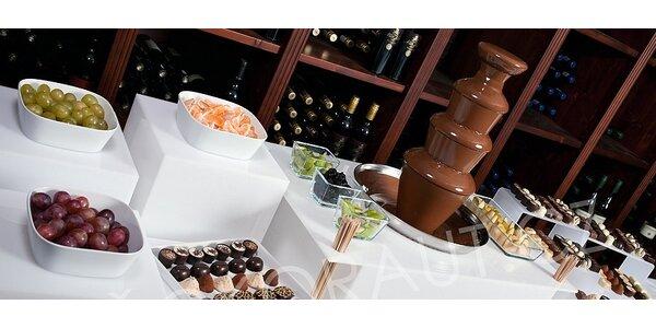 Pronájem čokoládové fontány včetně pravé belgické čokolády, kakaového másla…