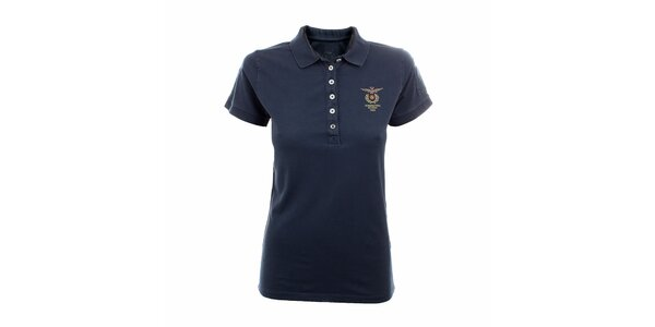 Dámské námořnicky modré polo tričko Aeronautica Militare