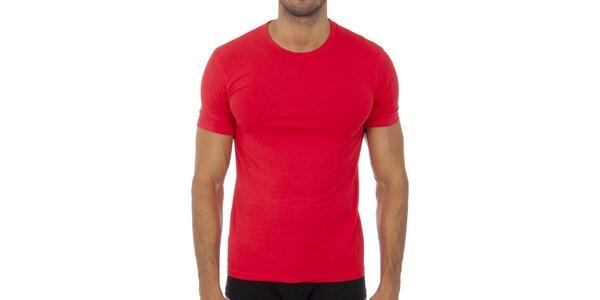 Pánské červené podvlékací tričko Bikkembergs