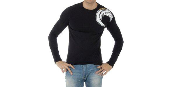 Pánské tmavě modré tričko Bikkembergs s potiskem