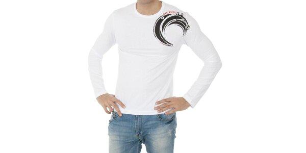 Pánské bílé tričko Bikkembergs s potiskem