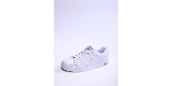 Pánské bílo-stříbrné tenisky U.S. Polo