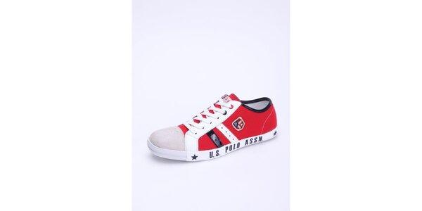 Pánské červeno-bílé tenisky U.S. Polo