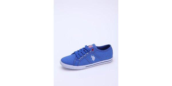 Dámské modré plátěné tenisky U.S. Polo