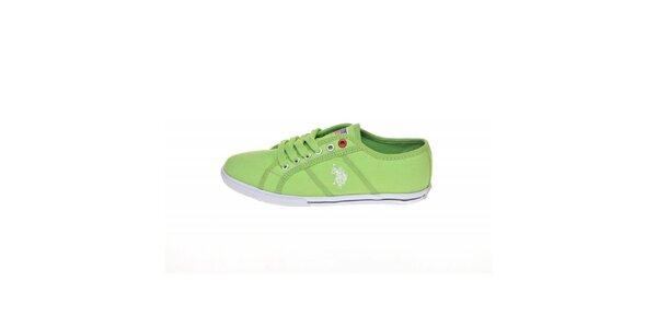 Dámské zelené plátěné tenisky U.S. Polo