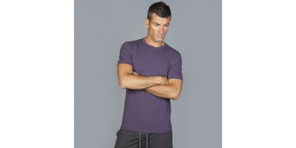 Pánské tmavě fialové tričko Guess by Marciano