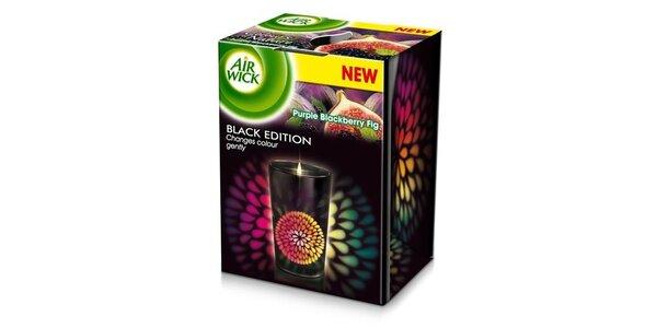 AIRWICK Multicolor svíčka Black Edition Purpurové fíky 155 g