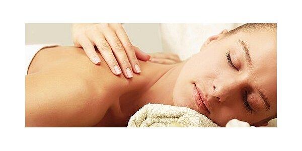 Částečná masáž teplým olejem - záda, šíje a bedra