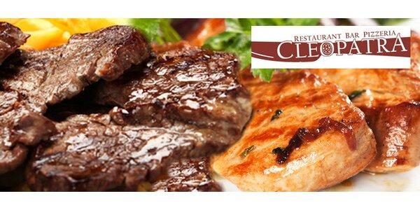 Tři druhy grilovaného masa pro tři jedlíky