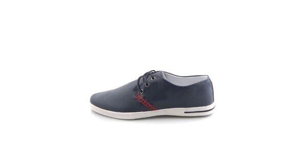 Pánské tmavě modré boty Tommy Petersen s červeným lemováním