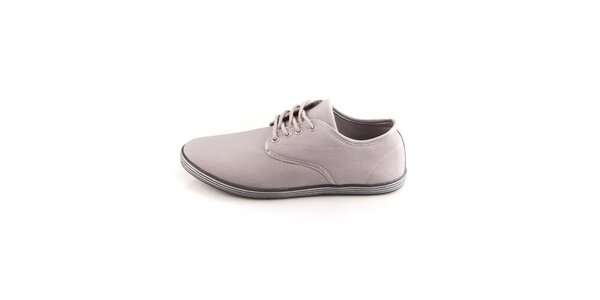 Pánské šedé boty Tommy Petersen s pruhovanými podrážkami
