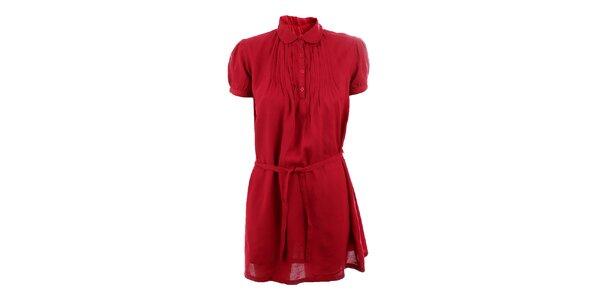 Dámské burgundy šaty se sklady Tantra