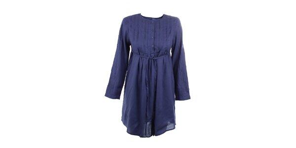 Dámské tmavě modré viskózové šaty Tantra