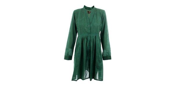 Dámské zelené košilové šaty Tantra