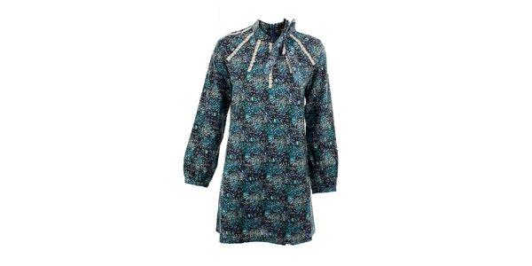 Dámské azurové šaty Tantra s mašlí