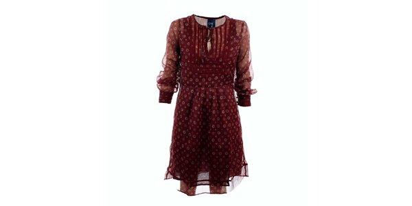 Dámské burgundy šaty Tantra