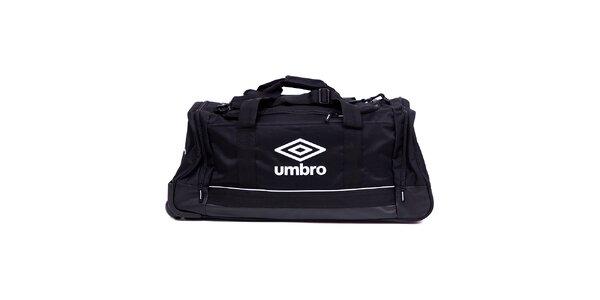 Černá cestovní taška na kolečkách Umbro
