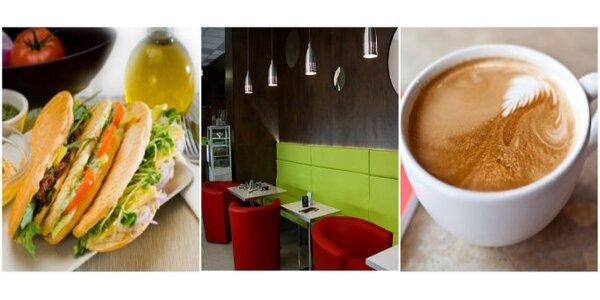 Jen 45 Kč za výborný sendvič Panini a Espresso se SLEVOU 45% !