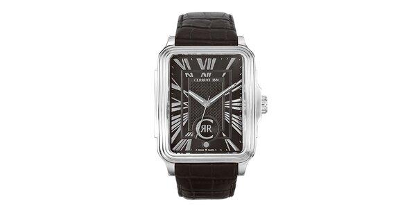 Pánské hranaté analogové hodinky Cerruti 1881 ve stříbrné barvě
