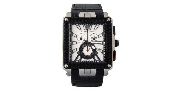 Pánské multifunkční bílo-černé hodinky Cerruti 1881