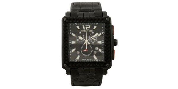 Pánské multifunkční černo-bílé hodinky Cerruti 1881