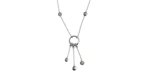Dámský náhrdelník s trojitým přívěskem a zirkony Cerruti 1881
