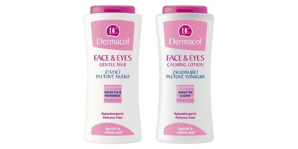 Face & Eyes pleťové tonikum 200ml+čistící pleťové mléko 200ml