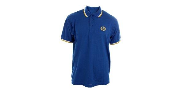 Pánské blankytně modré polo tričko Polo Club