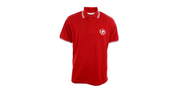 Pánské červené polo tričko Polo Club