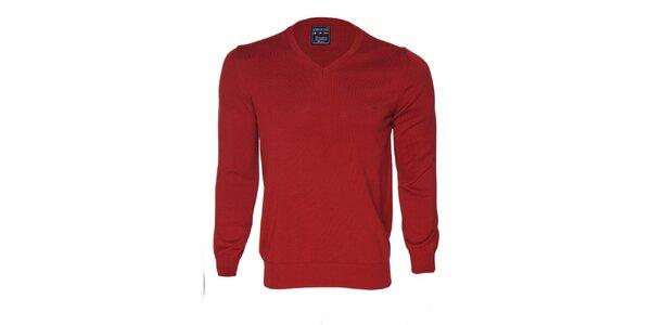 Pánský červený svetr s logem Giorgio di Mare
