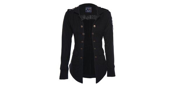 Dámský černý vojenský kabátek Giorgio di Mare