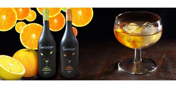 Míchaný likér Panthera. Citron nebo pomeranč!
