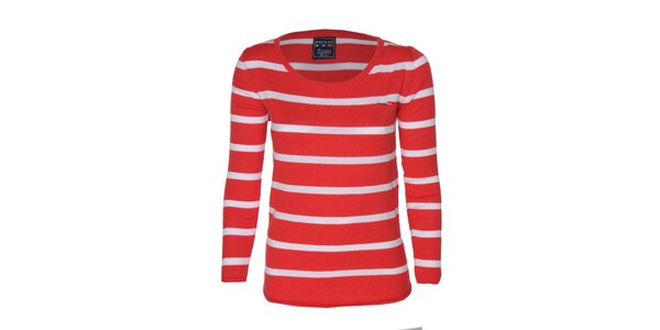 Dámské červeno-bílé pruhované tričko Giorgio di Mare