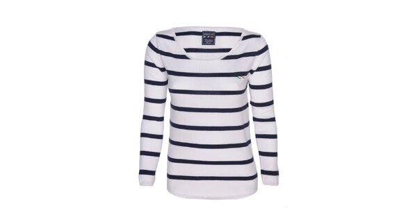 Dámské modro-bílé pruhované tričko Giorgio di Mare