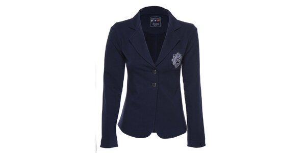Dámské tmavě modré sako s nášivkami Giorgio di Mare