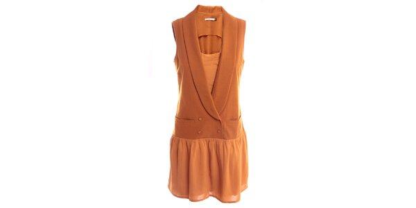 Dámské oranžovo-karamelové šaty 2two