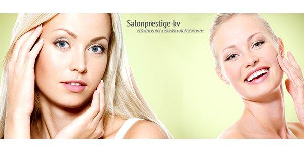 Čištění pleti ultrazvukem, masáž a luxusní kosmetika
