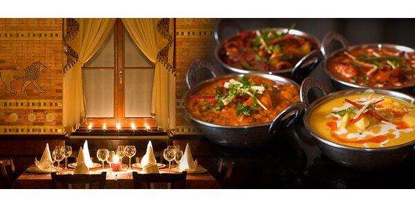 Cokoli z jídelního lístku indické restaurace Masala Pod Karlovem