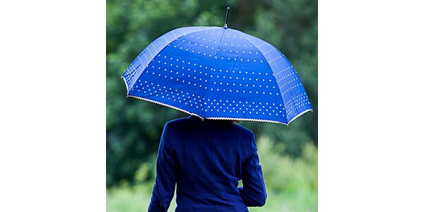 Dámský modrý deštník s puntíky Alvarez Romanelli