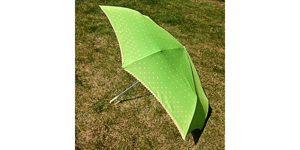 Dámský zelený puntíkatý deštník Alvarez Romanelli
