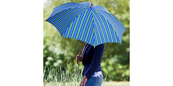 Dámský pruhovaný modro-zelený deštník Alvarez Romanelli