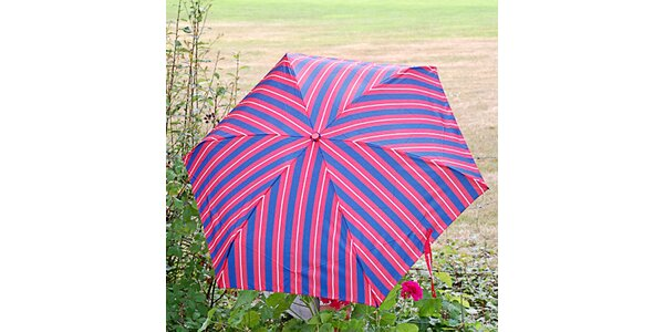 Dámský pruhovaný modro-červený deštník Alvarez Romanelli