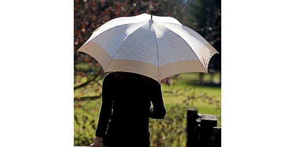 Dámský béžový deštník s kohoutí stopou Alvarez Romanelli