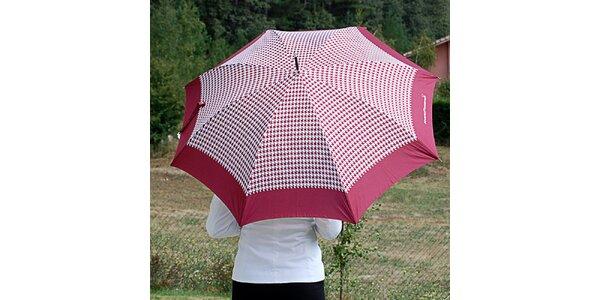 Dámský burgundy deštník s kohoutí stopou Alvarez Romanelli