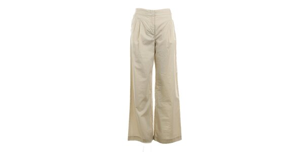 Dámské béžové široké kalhoty Max Mara