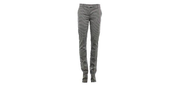 Dámské vlněné kalhoty se vzorem kohoutí stopy Max Mara