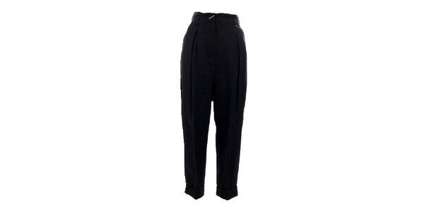 Dámské černé turecké kalhoty s přezkou Max Mara