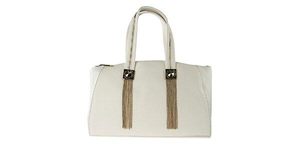 Dámská bílá kabelka s kovovými třásněmi Versace Jeans