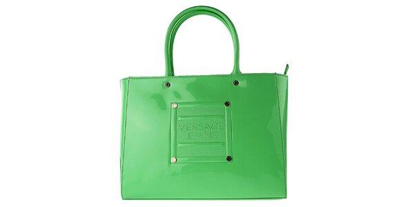 Dámská lakovaná zelená kabelka Versace Jeans